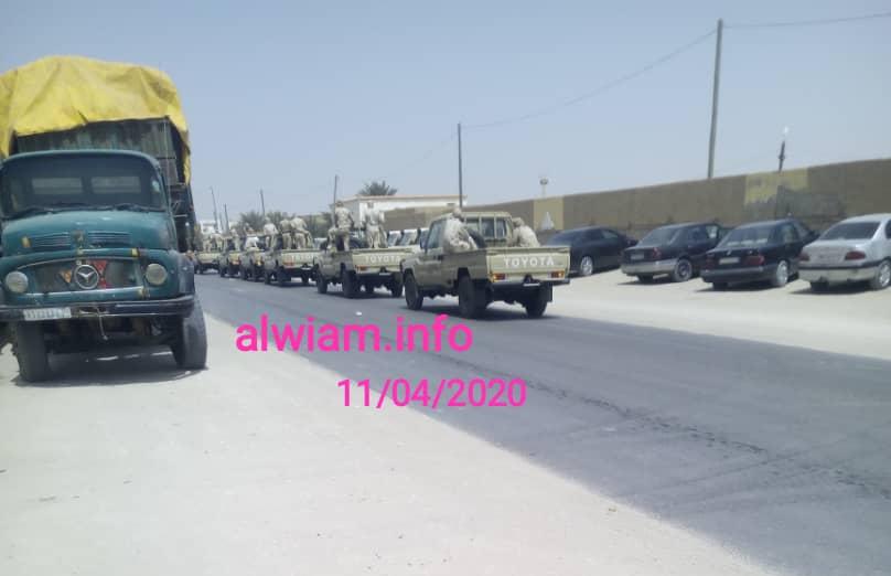 سيارات الجيش أمام مخازن CSA ـ الوئام