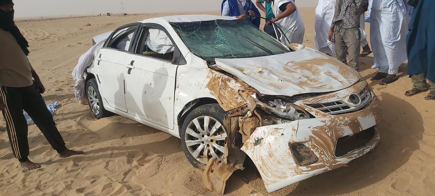 سيارة الشباب التي تعرضت للحادث