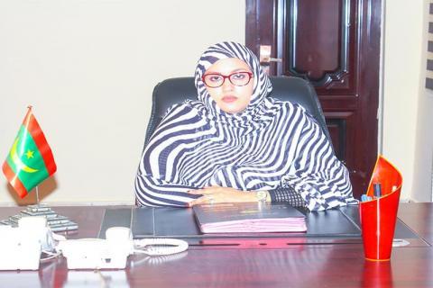 وزيرة الشؤون الاجتماعية، الناها منت هارون ولد الشيخ سيديا